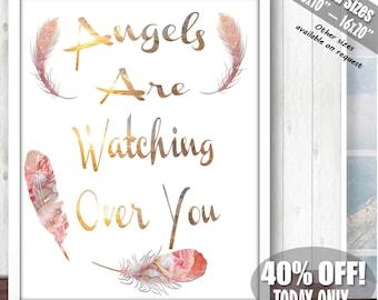 Guardian Angel Print, Guardian Angel, Guardian Angel Gifts, Guardians Wall Art, Nursery Prints Girl, Nursery Decor Girl,Nursery Quotes