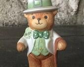 Lucy and Me Figurine, Irish Bear, 1980, Enesco, Vintage Lucy Rigg