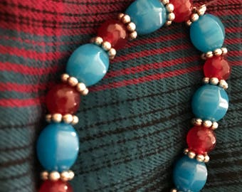 Red and Teal Bracelet