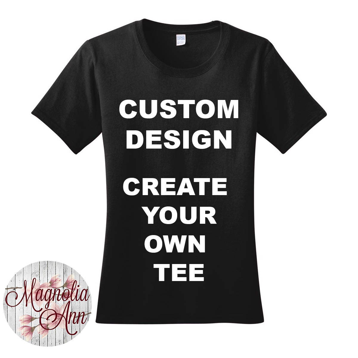 Custom design create your own tee women 39 s crew neck t Build your own t shirts