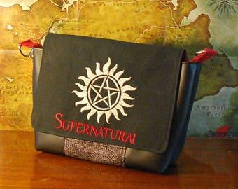 Supernatural Inspired Small Messenger Bag (Free Shipping)