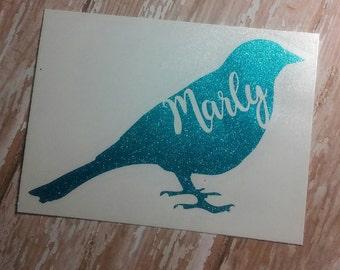 Bird Decal/Bird Monogram/Fowl Monogram/Name Monogram/Monogram/Decal/Vinyl Decal/Dove Decal/Pet Lovers Decal/YETI/HTV