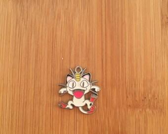 Pokemon Meowth charm, Pokemon Meowth pendant, Pokemon Meowth pendant charm