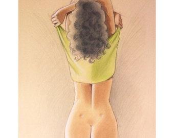 Erotic illustration 'Green'