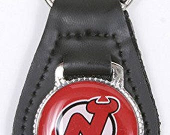 New Jersey Devils NHL Keychain & Keyring - Leather