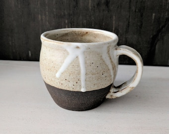 Ceramic Mug, Off White Coffee Mug, Farmhouse Pottery Mug, Handmade Stoneware Mug, Cream Speckled Mug
