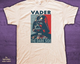 "VADER ""HOPE"" style T-Shirts - pre shrunk 100% Cotton short sleeve t-shirt - Darth Vader - Star Wars"
