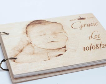 Photo album, Guest Book, Wedding Guest book, Guestbook, Customized, Personalized engraved text.