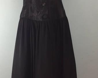 Richards vintage 1980s black halter neck dress UK 12/14 evening party