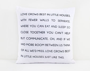 Love Grows Best (Pillow Cover Only)
