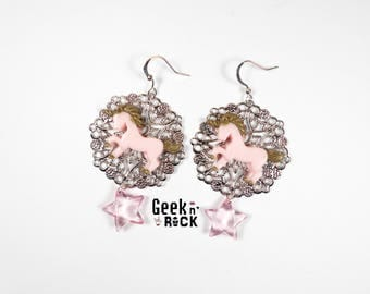 SALE 50% pastel Unicorn and fairy earrings