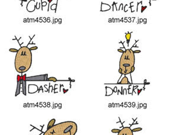 Reindeer-Names ( 9 Machine Embroidery Designs from ATW ) XYZ17K