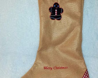 Felt Gingerbread Stocking