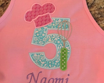 Personalized Birthday Apron - Cute Birthday Present!
