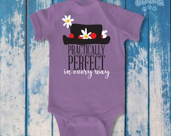 Practically Perfect in Every Way | Infant Bodysuit | Disney-Inspired | Mary Poppins