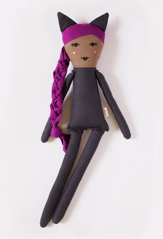 The Purrfect Catwoman Eartha Kitt Cloth Doll: handmade with eco-friendly materials