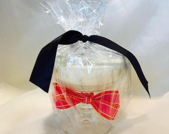 Orange Martini Glass Candle