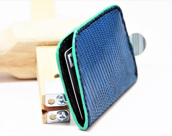 Single Pocket Card Wallet (Blue/Turquoise)