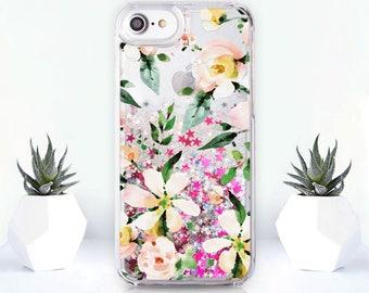 Floral iPhone 8 Plus Case Glitter iPhone 7 Plus Case iPhone 5s Case iPhone 5 Case Floral iPhone SE Case iPhone 8 Case iPhone 6 Case CZ1803