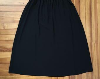 "FREE US SHIPPING   Plus Size Long Black Sheer Skirt w Elastic Waist   34"" Waist"