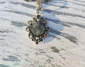 Cliffs Of Insanity Jewelry, Gray Gem Jewelry, Druzy Gem Jewelry, Gray Gemstone, Book Jewelry, Fantasy Jewelry, Druzy Earrings, Druzy Pendant
