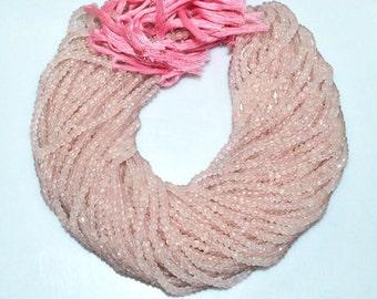 "1 Strand Good Quality Rose Quartz Rondelle Beads , Rose Quartz Faceted Rondelle Beads , Sold By Strand , 4 mm , 13"" - MC1247"