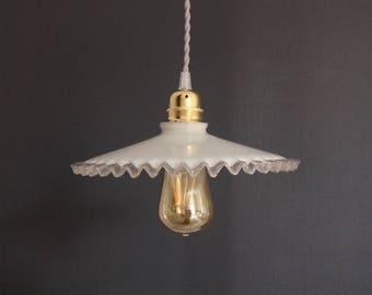 Ceiling lamp vintage opaline