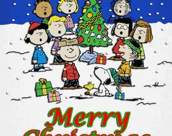 Merry Christmas Charlie Brown Instant Download & Print T-Shirt Transfer