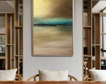 Abstract Art Landscape Oil Painting On Canvas Original Painting Modern Oil Painting Abstract Painting Wall Art On Canvas by Julia Kotenko