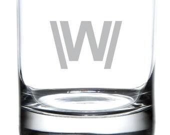 "Westworld ""W"" Laser Etched Tribute Glassware"