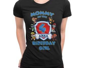 Paw Patrol Personalized Custom Birthday Bday for Mom, Dad, Grandma etc t-shirt
