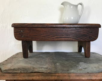 Vintage Bench / features handmade / step stool / solid wood / farmhouse furniture / fixer upper decor