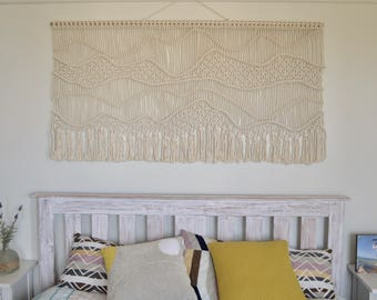 Wall hanging, home decor, modern macrame, boho, beach house, fibre art -'Ondas' - free shipping within Australia