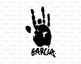 Grateful Dead Jerry Garcia Jerry's Hand & autograph Car Decal Vinyl Vehicle Bumper Sticker Jerry Garcia Auto