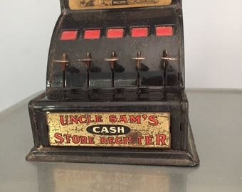 Metal Uncle Sam's Store Cash Register