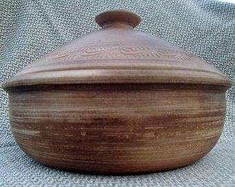 Baking Dish clay pan Baking Dish pan Clay baking dish baking clay pan handmade pan handmade clay pan large ceramic pot handmade ceramic pot