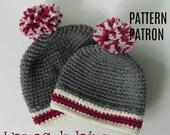 Patron de crochet Chapeau Cozy pour bébé - tuque, couvre chef, bonnet, bas de laine, neutre - fichier pdf, téléchargement numérique