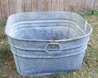 galvanized tubantique galvanized steel wash tubfarm wash basinold rusty washtub