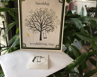 Friendship Card, Thinking of You Card, Stampin Up Sheltering Tree Stamp Set, Dawns BlanchCards