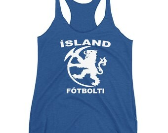 Iceland Tank, Iceland Soccer Tank, Iceland Soccer Shirt, Iceland Gifts
