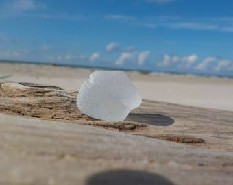 """Rare Genuine thick Sea glass piece -Surf-Tumbled Collectible Sea Glass-Size 0.75""""- Craft quality-Glass Home Decor#G19#"""
