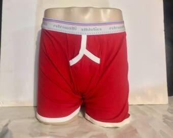 Retro Y Front Boxers in red new jockey boxer brief 70s 80s retro boxer briefs modern vintage underwear classic gay
