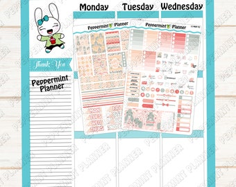 Happy Easter Mini Weekly Kit --- Planner Stickers --- Will fit in your Mini HP --- MHP13