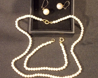 Vintage Simulated PEARL 3 PIECE SET
