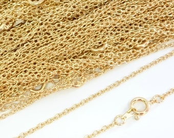22ct Gold Plated Necklace Trace Chain 16 Inch 4PC 10PC
