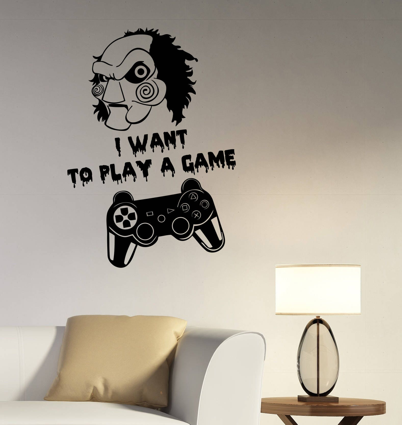 Video game wall decal gamepad joystick vinyl sticker jigsaw zoom amipublicfo Choice Image