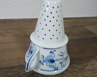 Meissen Germany Porcelain Blue Onion-Kitchen Funnel-Tea Strainer