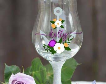 personalized wine glass, custom wine glasses, Glitter Wine Glass, birthday gifts, wine lovers, customized wine glasses, glitter glasses