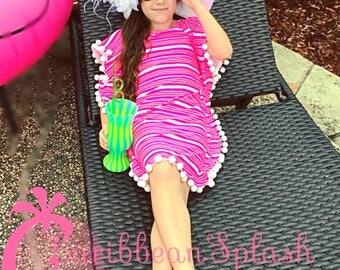 READY TO SHIP !Girls swimdress beach dress Coverup Boho style