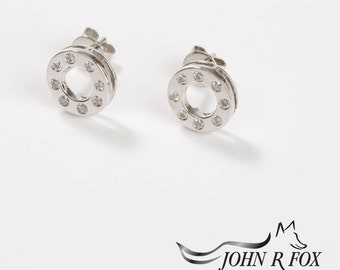Polo Ear Studs Eighteen Carat Gold. John Fox
